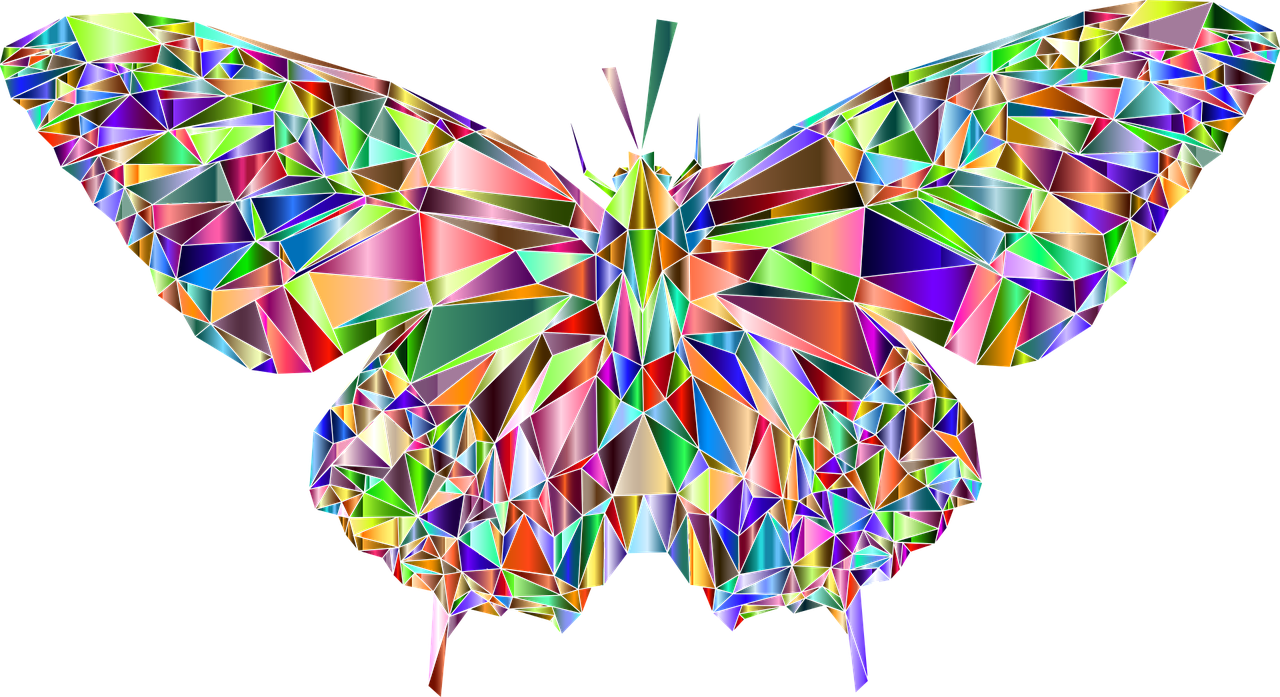 Multi coloured butterfly representing our mission and purpose